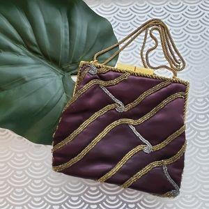 Vintage Walborg 1950s Glass Beaded Evening Bag